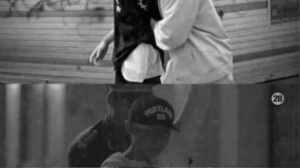 Cả hai đều có cảnh bị bắt trong MV của mình. (Ảnh chụp từ clip)