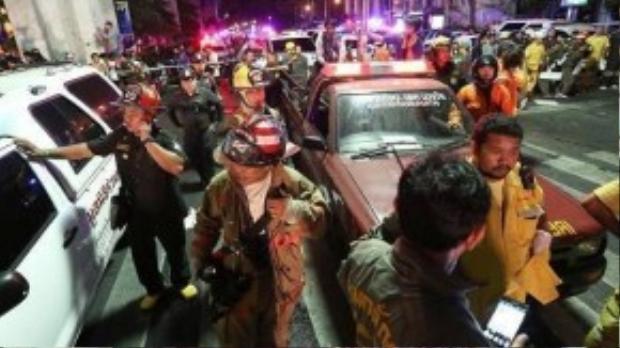Nội tệ và chứng khoán Thái Lan lao dốc không phanh sau vụ nổ bom ở Bangkok. Ảnh: Bloomberg
