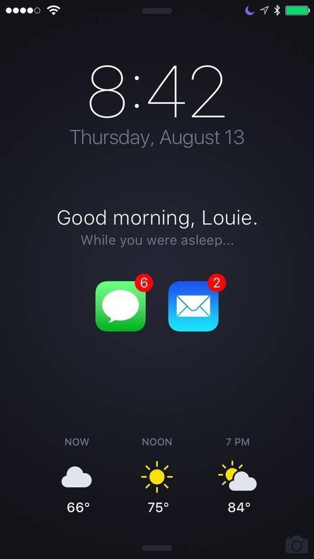 Đây là ý tưởng màn hình khóa iPhone mà ai cũng muốn