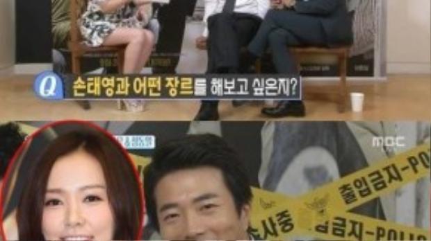 Kwon Sang Woo nịnh khéo vợ trong chương trình Section TV Entertainment Relay mới đây.