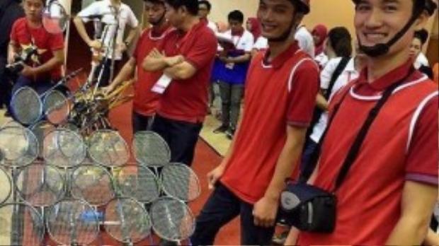 Sản phẩm Robot đánh cầu lông của đội tuyển Việt Nam.