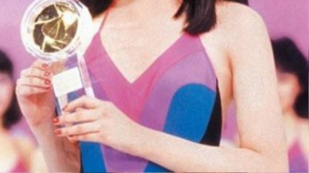 Trương Mạn Ngọc xinh đẹp trong cuộc thi năm ấy.