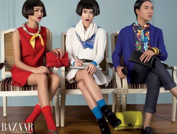 VNNTM2015: H'Hen Niê và Võ Thành An xuất hiện trên tạp chí Harpers Bazaar Vietnam