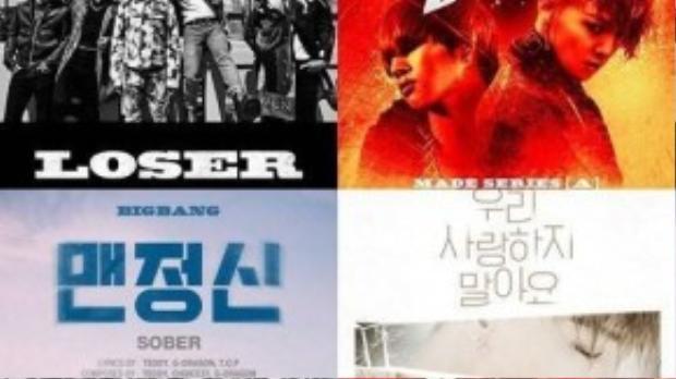 5 MVcủa Big Bang đều đạt lượng xem cao trên Youtube.