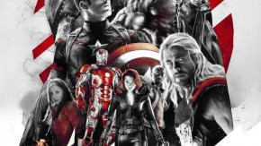 Poster của Avengers: Age of Ultron do Rich Davies thiết kế.