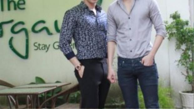 Siêu mẫu Võ Cảnh & hotboy Trương Thành Vinh cũng tham gia buổi tiệc.