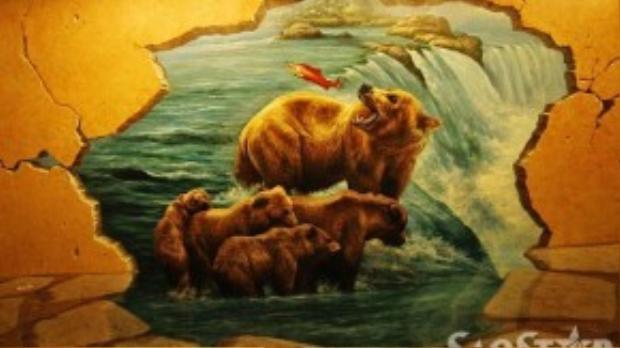 Khu vực động vật hoang dã với cùng những hình tượng thiên nhiên chân thực.