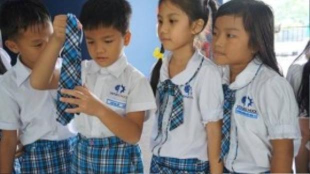 Học sinh Trường Vstar - Ảnh: H.HG.