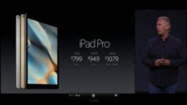 Bảng giá các phiên bản iPad Pro