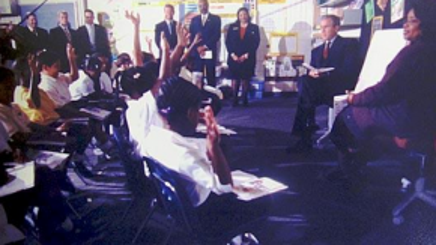 Tổng thống thứ 43 không biết thảm kịch kinh hoàng đang ập đến với nước Mỹ. Ảnh: ABCNews