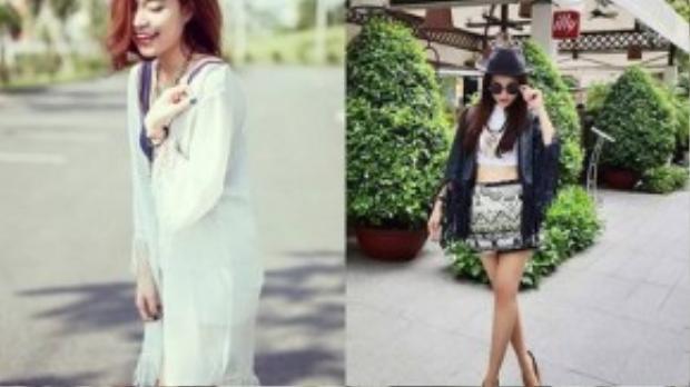 Hoàng Thùy Linh, Đinh Hương nữ tính trong áo khoác có tua rua ở đáy áo và 2 tay.