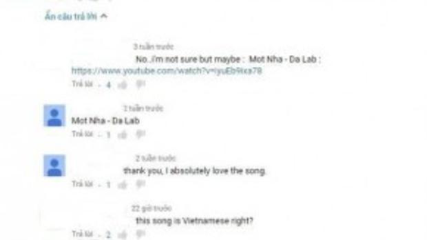 Cư dân mạng quốc tế thì tỏ ra thích thú với bài hát dù không có dòng thuyết minh nội dung.