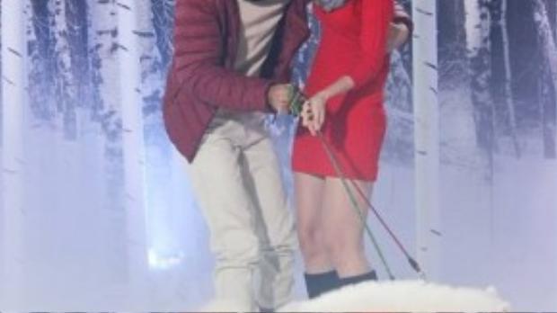 """Kha Mỹ Vân và Quang Hùng sẽ hóa thân thành tình nhân bên cạnh các thí sinh trong buổi chụp hình với concept """"Mùa ấm - Mùa yêu thương""""."""
