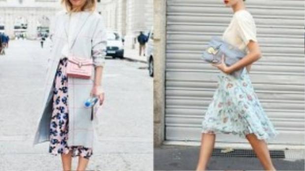 Muôn màu printed pastels của các fashionista trên thế giới.