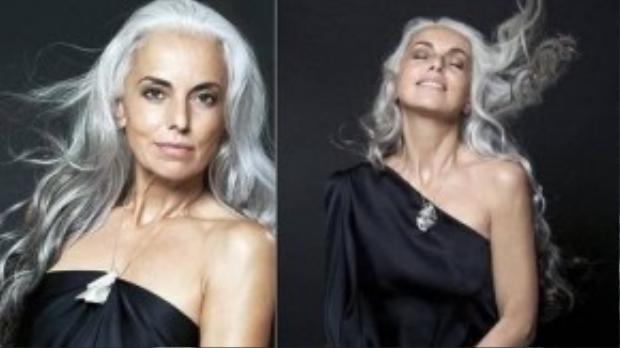 Chân dung người mẫu 59 tuổi Yasmina Rossi.