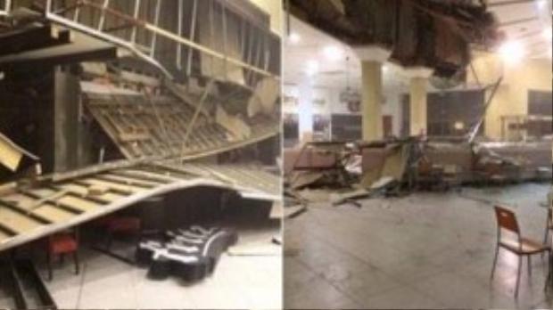 Trung tâm thương mại ở La Serena thiệt hại nặng vì động đất. Toàn bộ vùng biển Chile được đặt trong tình trạng báo động đỏ.