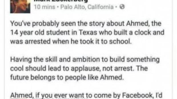CEO của mạng xã hội nổi tiếng nhất hiện nay, Mark Zukerberg của Facebook đăng tải