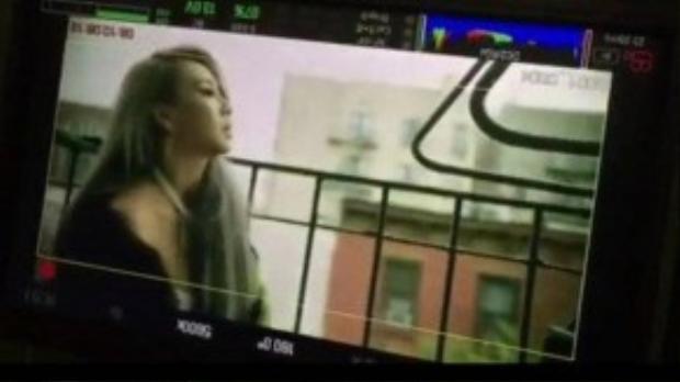 Hình ảnh trên trường quay MV tại Mỹ của CL.