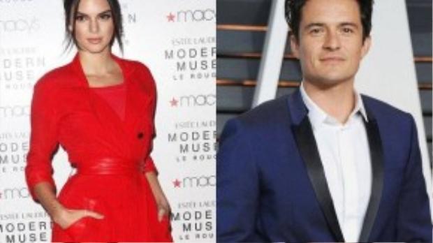 Kendall Jenner bị đồn là bóng hồng mới của Orlando Bloom.