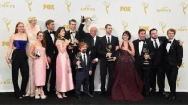 Dàn diễn viên Game of Thrones, những người đã phá vỡ kỷ lục Emmy Awards. Ảnh: Jason Merritt/Getty Images.