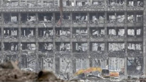 Những hình ảnh mới nhất về hiện trường vụ nổ ở Thiên Tân.