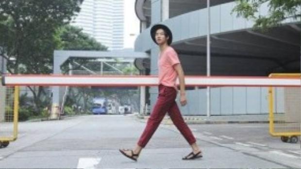 Chàng trai Võ Thành An luôn thu hút khán giả bằng phong cách đơn giản nhưng thanh lịch, bắt mắt.