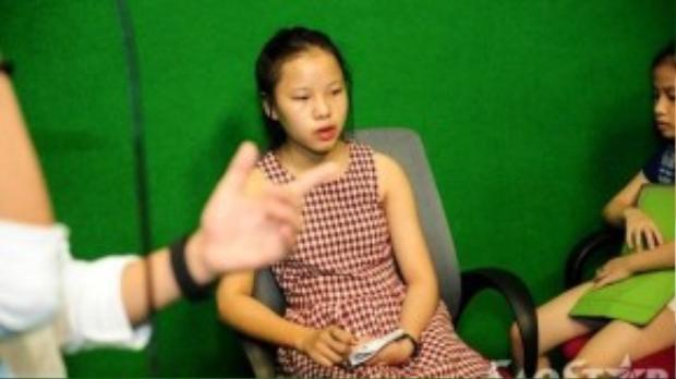 Cô bé Thu Hà cũng có mặt trong buổi tập.