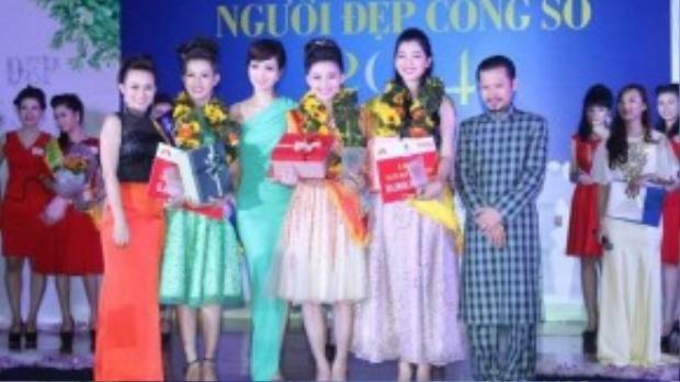 Nam 2014 Thanh Hạnh đã may mắn trở thành hoa khôi trong một cuộc thi về sắc đẹp trong giới công sở. (Ảnh: NVCC)