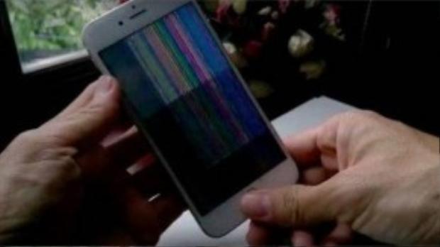 Lỗi màn hình bị sọc trên iPhone 6s tại Việt Nam.