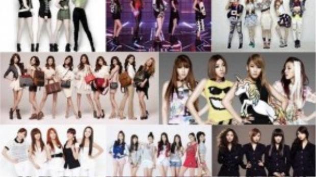 Các girl group Kpop.