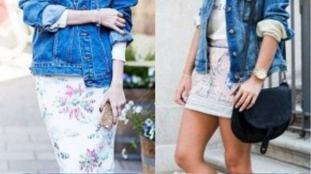 Áo khoác denim luôn nằm trong danh sách must-have của các fashionista vì nó có khả năng ứng dụng rất đa dạng, đặc biệt hợp với những ngày chuyển mùa.