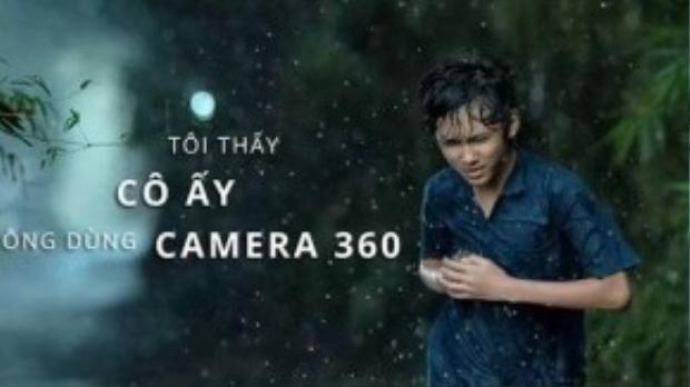 Hành động bỏ chạy chua xót của nhân vật chính rất hợp với tâm trạng thấy nhan sắc không qua Camera 360 của người yêu.