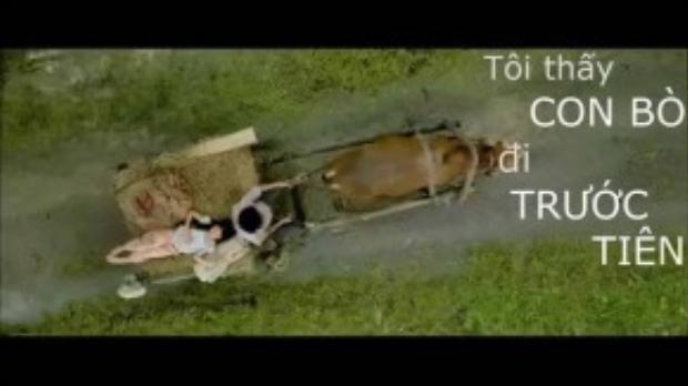Một cảnh phim được dùng để minh họa cho câu slogan tả thực.