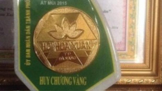 Giải Huy Chương Vàng Hội hoa xuân TP Đà Nẵng của Hồng Minh.