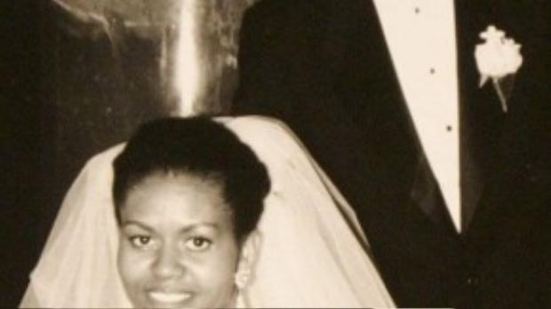 Barack Obama và vợ Michelle trong ngày cưới 3/10/1992.