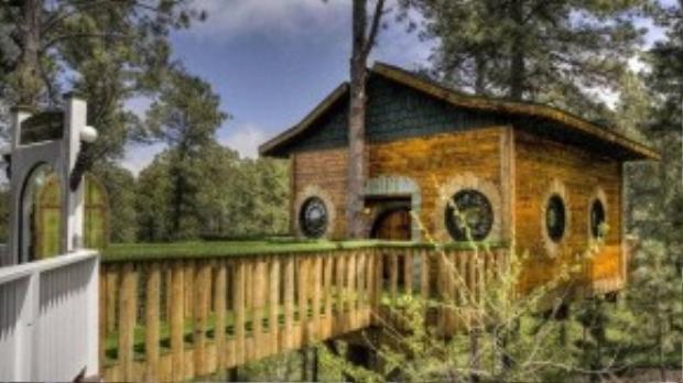 Ngôi nhà có thể chứa tối đa 16 khách.