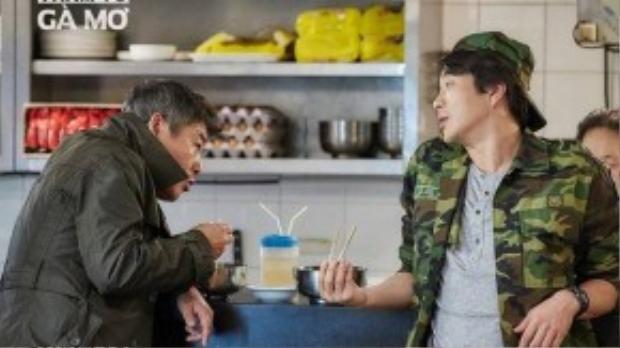 Kwon Sang Woo và Sung Dong Il phối hợp rất ăn ý trong Thám tử gà mơ.