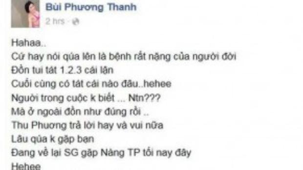 Phương Thanh cũng đã chia sẻ chuyện cũ này hơn 1 năm trước.