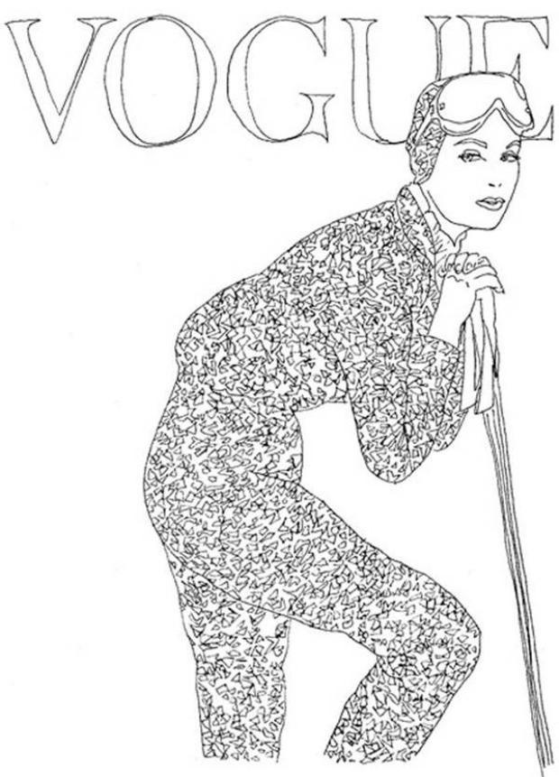 Sách tô màu thời trang sang chảnh của Vogue