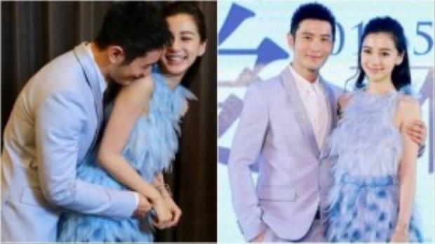 """""""Em chạy không thoát móng vuốt của anh đâu"""" - Nam diễn viên chia sẻ trên mạng xã hội trước ngày cưới của cả hai. 6 năm yêu nhau, Angela Baby chính thức là """"người của Huỳnh Hiểu Minh""""."""