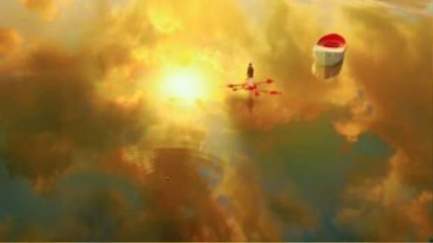 Một đại cảnh dù hùng tráng đến đâu thì cũng phải cần yếu tố con người làm trung tâm. Hình ảnh được cắt trong phim Life of Pi.