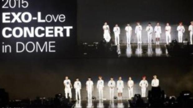 EXO tại dome concert hôm 10/10.