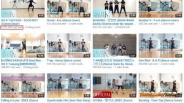 Những clip cover và hướng dẫn nhảy theo các ca khúc Kpop của Bin Gà luôn thu hút từ hàng trăm nghìn đến hàng triệu lượt xem.