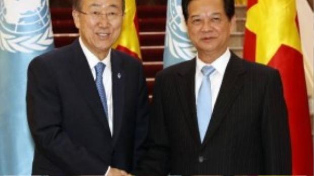 Chủ tịch nước Trương Tấn Sang tiếp Tổng Thư ký Liên Hợp Quốc Ban Ki Moon thăm chính thức Việt Nam vào ngày 22/5.