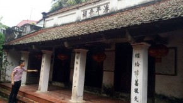 Nhà thờ họ Phan Huy tại Sài Sơn, Hà Nội. (Ảnh: Tuổi Trẻ)
