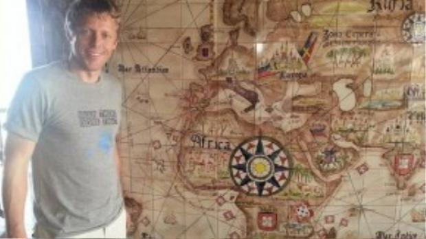 Garfors kết thúc chuyến đi vòng quanh thế giới ở Cape Verde, một quốc gia nằm trên quần đảo ngoài khơi tây bắc châu Phi.