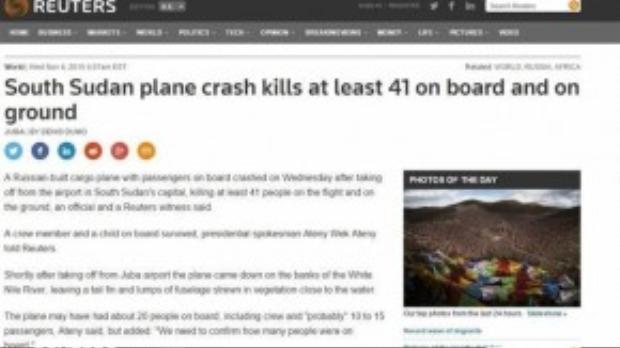 Reuters đưa tin đã có 41 người thiệt mạng trong vụ tai nạn.