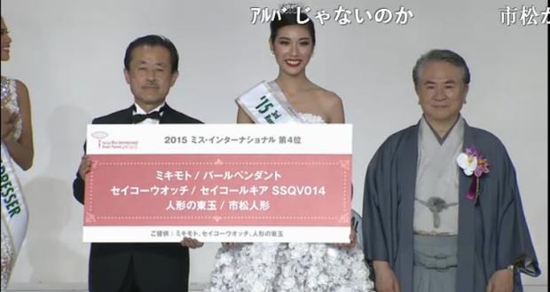 Thúy Vân ghi dấu ấn lịch sử khi đoạt giải Á hậu 3 Hoa hậu Quốc tế 2015