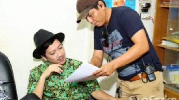 Đạo diễn Đức Thịnh góp ý kịch bản cùng Trường Giang.