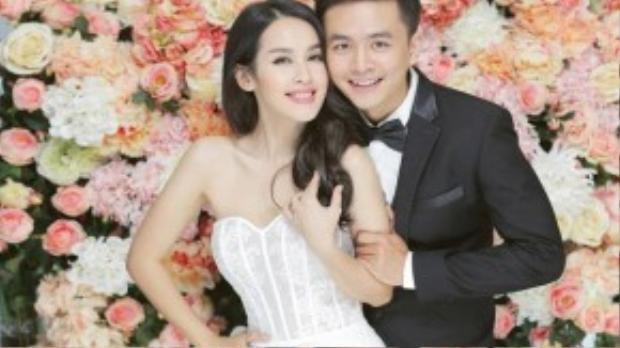 Cặp đôi trẻ xinh đẹp của làng điện ảnh Việt rạng rỡ trong bộ ảnh cưới.